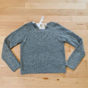 ABERCROMBIE & FITCH - NWT Silver Tie Back Sweater